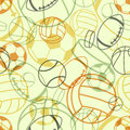Sports seamless pattern Royalty Free Stock Images