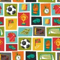 Sports seamless pattern with soccer football Royalty Free Stock Photo
