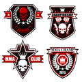Sports shield emblem graphic set Royalty Free Stock Photo