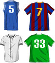 Sports shirts pack vector illustrations of various Royalty Free Stock Photos