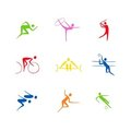 Sports silhouettes Royalty Free Stock Photo