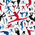 Sports silhouettes pattern Royalty Free Stock Photo