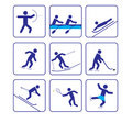 Sports stylize icons set three (vector) Stock Photo