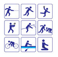 Sports stylize icons set two in vector Royalty Free Stock Image