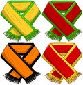 Sports team scarf pack a of vector illustrations of famous teams scarfs Royalty Free Stock Photos