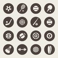 Sports theme icon set Royalty Free Stock Photos