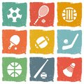 Sports theme icon set Stock Image