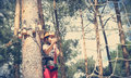 Sports tourism in the forest Royalty Free Stock Photography