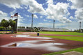 Sports Track After the Rain Royalty Free Stock Images