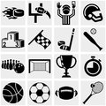 Sports vector icons set on gray isolated grey background eps file available Stock Photos