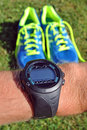 Sports watch for runners Royalty Free Stock Photo