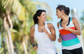 Sports women running outdoors getting ready for the summer Royalty Free Stock Photo