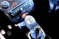 Sportscar gear shifter Royalty Free Stock Photo