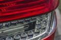 Sportscar stoplight closeup Royalty Free Stock Images
