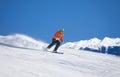 Sportsman In Ski Mask Sliding ...