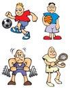 Sportsmen Royalty Free Stock Photos