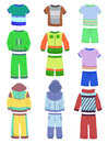 Sportswear for boys set of childrens sports clothing Royalty Free Stock Image