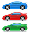 Sportwagen. Vector pictogrammen Stock Afbeeldingen