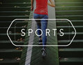 Sporty Exercise Action Active Athlete Leisure Concept Royalty Free Stock Photo