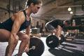 Sporty People Bend Their Knees...
