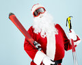 Sporty Santa Royalty Free Stock Photos