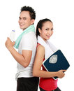 Sporty woman and man Royalty Free Stock Photos