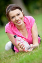 Sporty woman portrait Royalty Free Stock Image