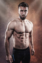 Sporty young man with Six Pack Royalty Free Stock Photo