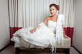 Sposa all'hotel Immagini Stock