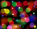 Spot lights colorful disco in different hues Royalty Free Stock Photo