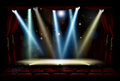 Spot Lights Theatre Stage Royalty Free Stock Photo