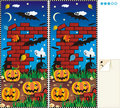 Spot ten differences - Halloween Royalty Free Stock Photography
