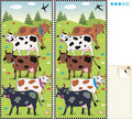 Spot ten differences visual puzzle - cows Stock Images