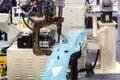 Spot welding machine for automotive industry in factory. Smart f