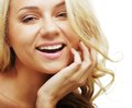 Spotless young blond woman Royalty Free Stock Images