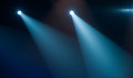Spotlight concert lighting on stage Royalty Free Stock Images