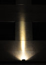 Spotlight llluminated wall single illuminated concrete by beam of light Stock Photos