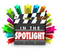 In the Spotlight Movie Clapper Stars Recognition Appreciation Pr Royalty Free Stock Photo