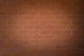Spotlight on Orange Brick Wall Royalty Free Stock Photo
