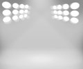 Spotlight White Room Background Royalty Free Stock Photos