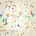 Spots and splashes of paint