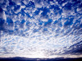 Spotted clouds. Royalty Free Stock Photo