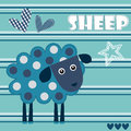 Spotted sheep lamb vector illustration