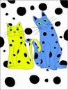 Spotty Cats Stock Photo