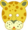 Spotty leopard mask Stock Image