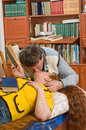 Spouses like to read books. Royalty Free Stock Images