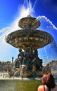 Spouting Fountain in Paris Royalty Free Stock Images