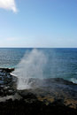 Spouting horn blowhole scenic view of on coastline of kauai island hawaii u s a Stock Image