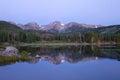 Sprague Lake at Rocky Mountain National Park Royalty Free Stock Photo
