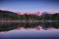Sprague lake, Rocky Mountain National Park Royalty Free Stock Photo